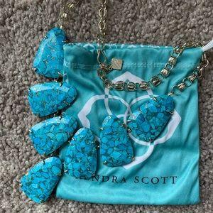 Kendra Scott Harlow Bronze Veined Turquoise